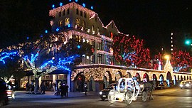 Mission Inn at Christmas from the southwest.jpg