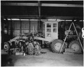 Mission shop, Viejas. Overhauling Number 11 Caterpillar auto patrol. - NARA - 295134.tif