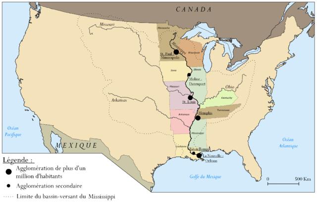 Estados por los que pasa el río Misisipi