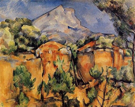 Mont Sainte-Victoire Seen from the Bibemus Quarry Paul Cézanne