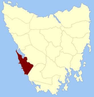 Montgomery Land District - Location in Tasmania