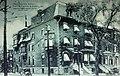 Montréal, vers 1910. Coin Nord-Ouest des rues Stanley et Dorchester. (6897819049).jpg