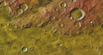 Morpheos Rupes (THEMIS Day IR with MOLA Color).png