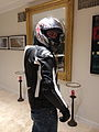 Motorcyclist in protective clothing back.JPG