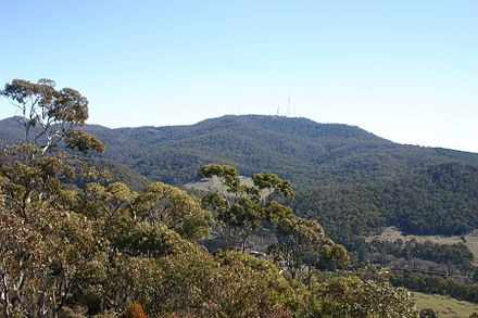 Mount Canobolas as viewed from the Pinnacles, near Orange. Mount Canobolas.jpg