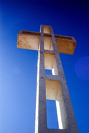 The Cross, the center of much controversy, sit...