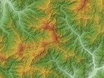 Mount Tanigawadake Relief Map, SRTM-1.jpg