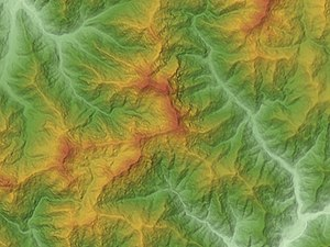 Mount Tanigawa - Relief Map of Mount Tanigawa