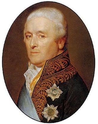 Order of the Union - Adriaan Pieter Twent van Raaphorst with the sash of the Order of the Union in 1809.