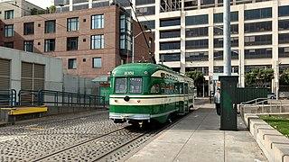 Don Chee Way and Steuart station light rail Muni station in San Francisco
