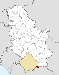 Location of the municipality of Preševo within Serbia