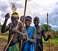 Mursi Warriors, Ethiopia (8085935907).jpg