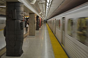Toronto subway - Subway trains at Museum station on Line 1 Yonge–University.