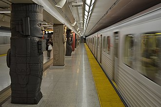 Toronto subway - Subway trains at Museum station on Line 1 Yonge–University