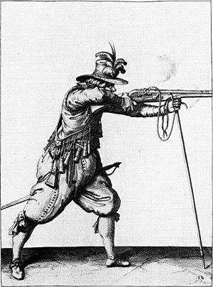 Musketier mit Gabelmuskete