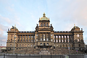 National Museum (Prague) - Main building of the National Museum by day
