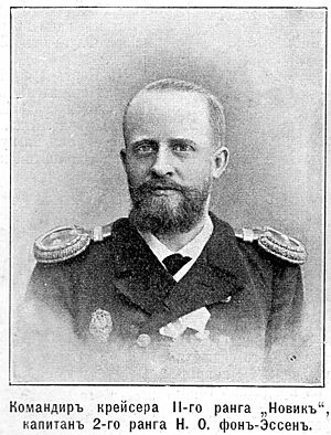 Nikolai Essen - Nikolai Essen as commander of Novik