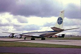 N767PA 2 B707-321C Pan Am 2 LHR 02SEP63 (6053722361).jpg