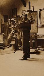 NC Wyeth-cowboy model-studio.jpg