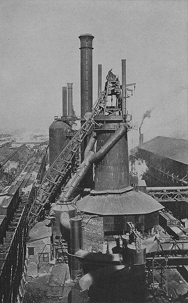 File:NIE 1905 Iron and Steel - modern blast furnace.jpg