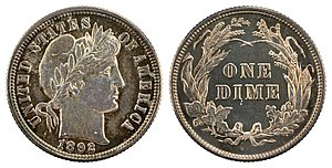 Dime (United States coin) - 1902 Barber Dime