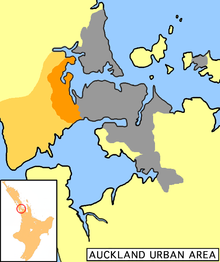 Waitakere City (orange)