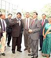 Nalaka with Chairman Gotabaya Rajapaksa and Central Bank Governor Nivad Cabraal copy.jpg