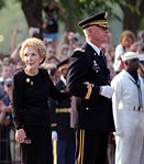 Nancy Reagan applauded at Constitution Avenue2.jpg