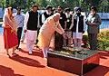 Narendra Modi paying homage at the Samadhi of Shri B.K. Dutt at National Martyrs Memorial, at Hussainiwala, in Punjab. The Chief Minister of Punjab, Shri Parkash Singh Badal.jpg