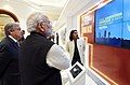 Narendra Modi visits Mini Digital Exhibition accompanied by the Secretary General of the United Nations, Mr. Antonio Guterres at the Mahatma Gandhi International Sanitation Convention (MGISC) (1).JPG