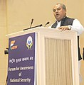 Narendra Singh Tomar addressing the National Seminar on Border States Development, Security, and relations with Neighboring Countries, organised by the Forum for Awareness of National Security, in New Delhi.jpg