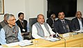 Narendra Singh Tomar addressing the media on issues concerning the Ministries of Rural Development, Drinking Water & Sanitation and Panchayati Raj, in New Delhi.jpg