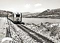 Narrow-Gauge-Railway Narentabahn DMU-801 Jablanica-Reservoir West-of-Drecelj.jpg