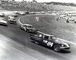 Wood Brothers Racing - Glen Wood driving the second place 21 in 1958