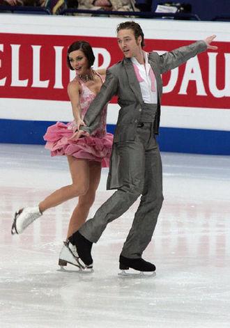 Nathalie Péchalat - Péchalat and Bourzat at the 2009 Europeans.
