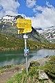 Nationalpark Hohe Tauern - Gletscherweg Innergschlöß - 23 - Wegweiser beim Salzbodensee.jpg