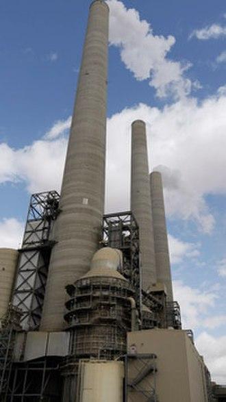 Navajo Generating Station - Scrubber absorber vessel and flue gas stacks