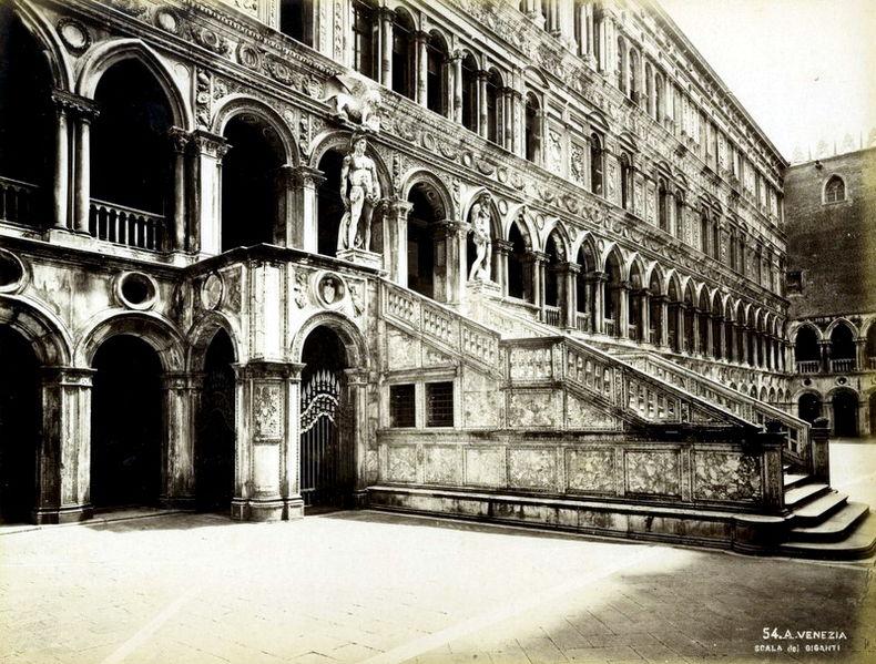 schody Gigantów, Pałac Dożów, Wenecja
