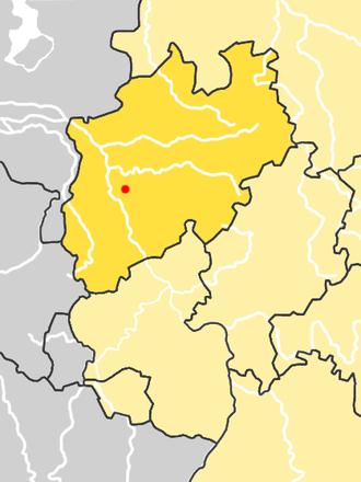 Neandertal (valley) - Location of Neandertal, Germany