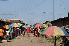 Neighbourhood of Bujumbura without organised wastewater and waste management (6908380335).jpg