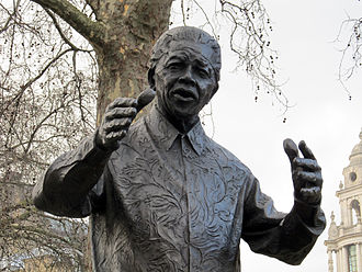 Statue of Nelson Mandela, Parliament Square - Detail of the statue