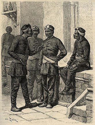 Nepalese Army - Nepali national soldiers by Gustave Le Bon, 1885