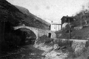 BVZ Zermatt-Bahn - The Ritibrücke at Ackersand was given a second span for the VZ.