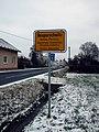 Neupurschwitz-Nowe Poršicy - city limit sign.jpg