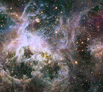 Infrared astronomy - Image: New Hubble infrared view of the Tarantula Nebula