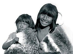 Selk'nam people - Image: Niños Selknam