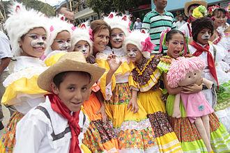 Festival Folclórico y Reinado Nacional del Bambuco - Woman wearing the festival's traditional outfit.