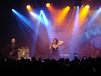Nicki French - French performing while on tour in Brazil in 2009