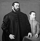 Nicolas Neufchâtel - Portrait of the Nuremberg Goldsmith Hans Lencker (1523-1585) and his 9-year old son Elisius the Younger - DEP8 - Statens Museum for Kunst.jpg