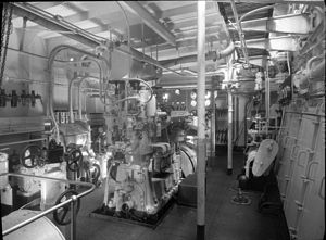 MV Nimbin - The Nimbin's engine room when constructed